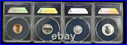 2018-s Anacs Reverse Proof Date Complete Box Set Rp70 Dcam Strike #164 5382