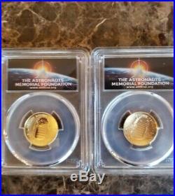2019 Apollo 11 50th Anniversary Coin PF MS 69 Silver Gold complete 8 coin set