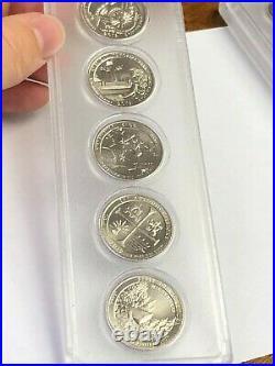2019-W Complete (5) Coins ATB National Park Quarters Set WEST POINT MINT, UNC