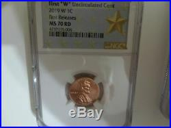 2019 W Complete Set West Point Lincoln Cent Ngc Ms70, Pf70, Rp70