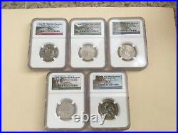 2019 W Quarter Uncirculated Ngc Ms 65 Complete Coin Set Low Mintage! Nice Coins