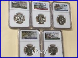 2019 W Quarter Uncirculated Ngc Ms 66 Complete Coin Set Low Mintage! Nice Coins