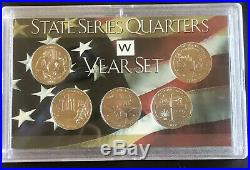2019 W Quarters Full Complete Set Of All 5 Designs In Display Case. Must Have