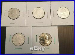 2019-W W QUARTERS COMPLETE SET Of ALL 5 LOWELL MARIANA GUAM SAN ANTONIO RIVER