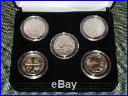 2019-W West Point Mint Complete Coin Set Encapsulated with Black Felt Display Case