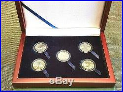 2019-W West Point Mint Complete Coin Set Encapsulated with Mahogany Display Box