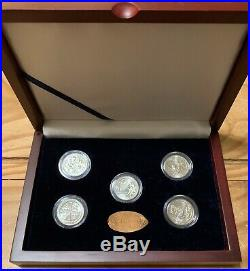 2019 W West Point Quarters Complete Set Of All 5 In Display Case (incl Idaho)