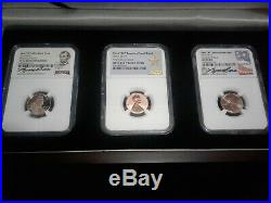 2019-w Complete West Point Lincoln Cent Set! Ngc Ms Pf Rpf 70 (3)coin Set! +box