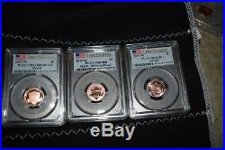 2019-w Complete West Point Lincoln Cent Set Pcgs Ms69/ Pr/ Rp (3) Coin Set
