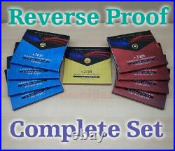 2020, 2019, & 2018 American Innovation $1 REVERSE Proof Complete Set