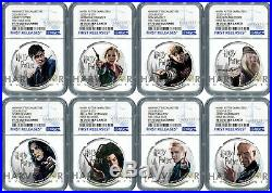 2020 HARRY POTTER COINS COMPLETE 8-COIN SET NGC PF70 FIRST RELEASES WithOGP