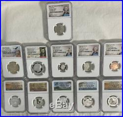 2020 S Silver Proof Set Complete with Reverse Nickel NGC PF 70 FIRST DAY 11 Coins