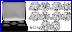 2020-W West Point Mint Complete 5 Quarter UNCIRCULATED Coin Set with Display Case