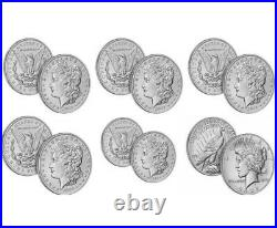 2021 Morgan & Peace Dollar Complete Set of 6 CC O D S P CONFIRMED PRESALE