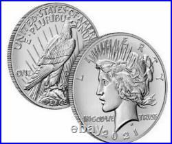 2021 Morgan Silver Dollar Complete Set of 6 Morgan CC, O, D, S, P and Peace