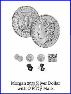 2021 Morgan Silver Dollars (O, CC, S, D, P, & Peace)Complete Set 6 coins Presale