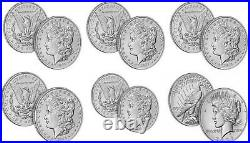 2021 Morgan and Peace Dollar Complete 6 Set CC O D S P & Peace CONFIRMED coins