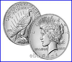 2021 Morgan and Peace Dollar Complete Set CC O D S P and Peace