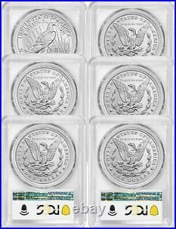 2021 Peace & Morgan Dollars ADVANCE RELEASES PCGS MS70 COMPLETE 6 COIN SET