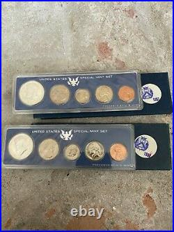 25 Years of U. S. Mint Sets (Uncirculated), Complete Set Some Contain Silver