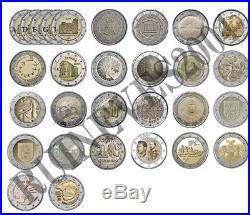 29 x 2 Euro Commemorative coins 2017 Uncirculated Coins Complete SET RAR