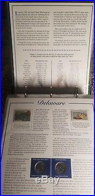 2 Volume Complete Set Statehood Quarter Book Collection With Stamps! BU RARE