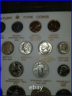 30-Piece US 20th Century Type Coins complete set in Capital Plastic 460 holder