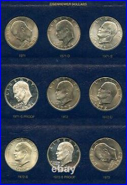 32 Coin 1971-1978 Complete Eisenhower Ike Dollar Set Includes Proof & Silver