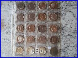 32 Piece Eisenhower Dollar Complete Set 1971-1978 Mint & PR in vinyl sheets