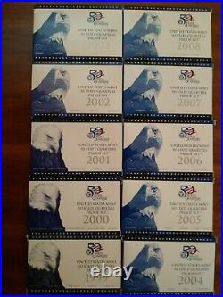 50 State Quarters 1999-2008 Complete US Mint Proof Set Boxed