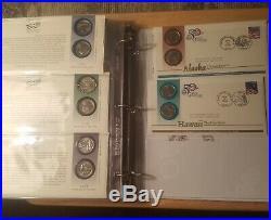 50 State Quarters Coin Covers Complete Set in Album+DC, 3 Territories, Bonus