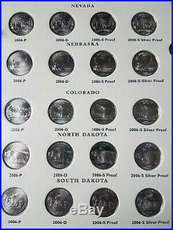 50 State Quarters Set Complete P, D, S, Silver Proof Uncirculated withAlbum 1999-2009