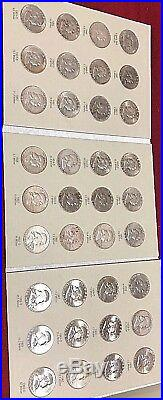 50c Complete 36 Coin Franklin Set With Album-P, D, S-Most Are Uncirculated