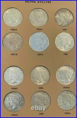 AMAZING 119 Coin Morgan AND Peace Dollar Complete Full Sets, 60+% AU/BU! RARE