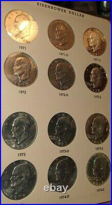 A complete Proofs n Gems set of Eisenhower Dollar Coins 1971-1978 P, D, &S