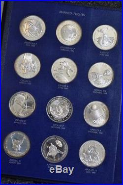 America In Space from the Franklin Mint Sterling Silver Coins Complete 24pc Set
