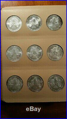 American Silver Eagles Complete 35 Coin Set 1986 to 2020 in Dansco Album Choice