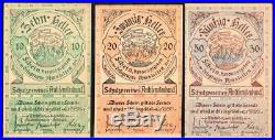 Austria's Most Virulently Antisemitic Currency! Complete 3-note 1920 Set! Read