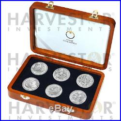 Austrian Silver 20 Rome On The Danube Complete 6-coin Set With Collector Box