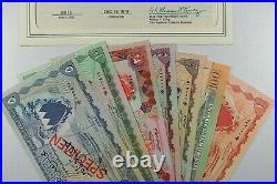Bahrain 1964 (1978) CS1 P1 6, 10 Complete Set of Specimens UNC