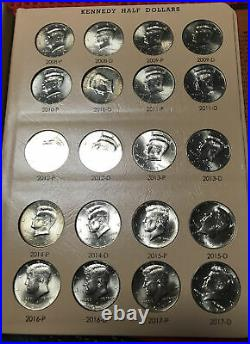 Bright Uncirculated Complete Set 1964-2018 Kennedy Half Dollars