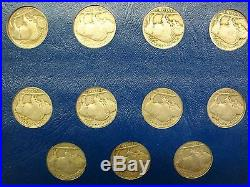 Buffalo Nickel Set Complete 64 Coins 1913-1938 with 1913-D 1913-S Var 2 1926-S etc