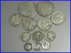 COMPLETE 20th CENTURY SILVER US TYPE COIN SET 13 DIFFERENT+MORGAN+PEACE+GOLD