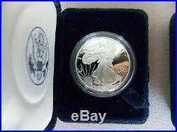 COMPLETE 33 COIN SET 1986-2019 (not 2009) Silver Eagle $1 Proof (P, S, W)