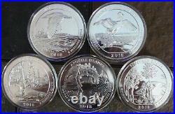 COMPLETE 56 COIN SET! 5oz ATB Silver Quarters 280oz! . 999 Silver MS in Caps