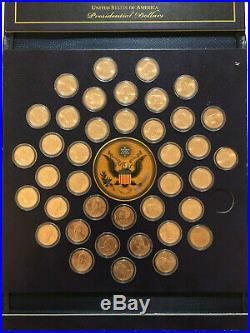 COMPLETE Brilliant Uncirculated Presidential $1 P 39 Coin Set in Leather Display