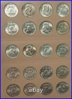 COMPLETE FRANKLIN 50c SET 1948-1963 PDS Unc (1950,51,53 Toned Sliders) K603
