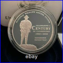 COMPLETE SET 2003 National Wildlife Refuge System Centennial Medal Silver Proof