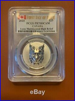 COMPLETE SET Canadian Multifaceted Animal Head Series! Graded PCGS PR70