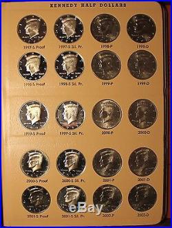 COMPLETE SET DANSCO KENNEDY HALF DOLLAR 1964 2011 PDSS silver proof 158 HALVES